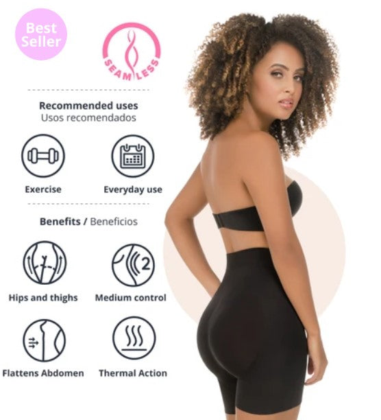Abdomen Contouring Seamless Thermal Shorts - 1504