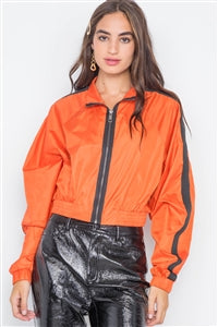Orange Lightweight Cropped Jacket