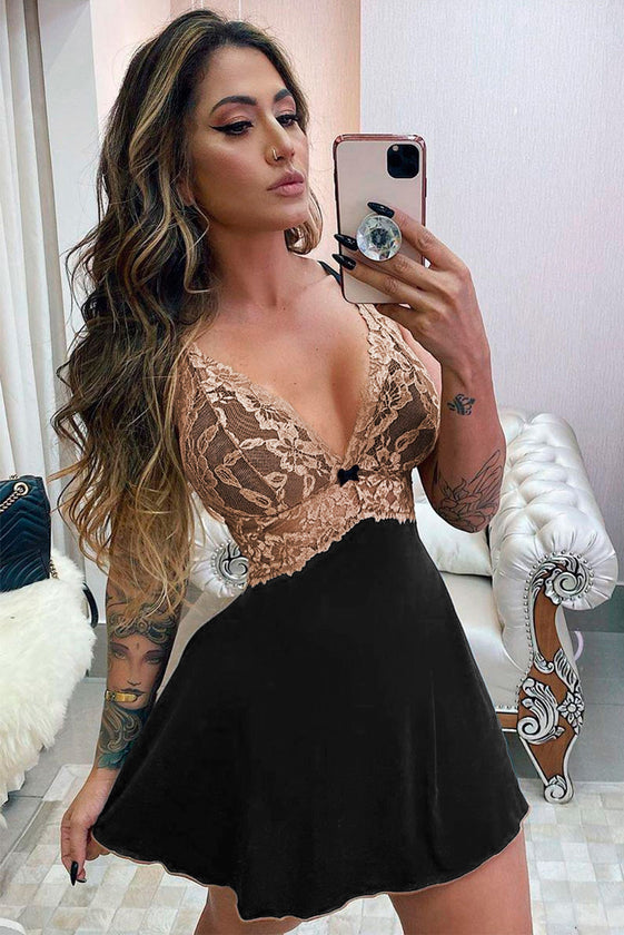 Lace Bust Babydoll