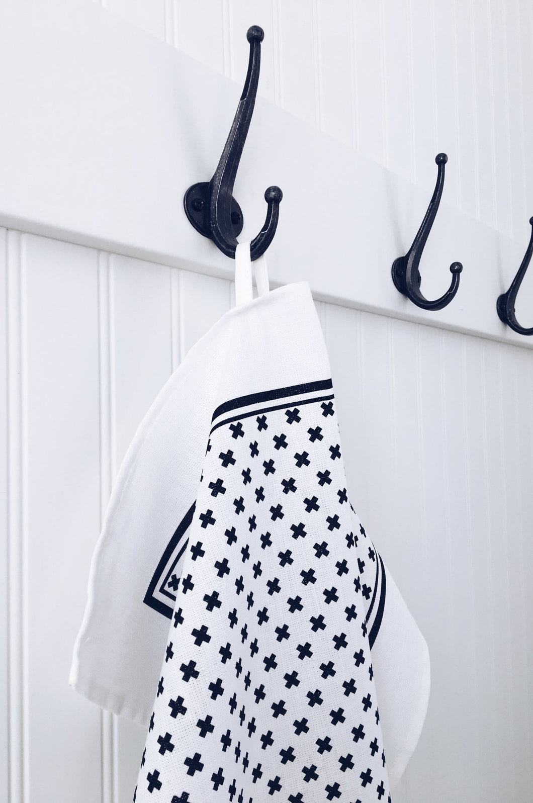 Tea Towel Tiny X - Black and White
