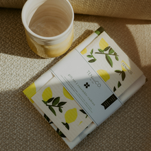 Charger l'image dans la galerie, Sponge Cloth and Tea Towel Set - Citrus Lemon