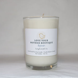 Soy Candle, Replenish - Eucalyptus and White Tea
