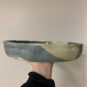 Serving Dish  - Blue and White