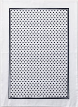 Load image into Gallery viewer, Tea Towel Tiny X - Black and White