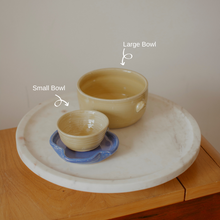 Load image into Gallery viewer, Large Bowl with a handle - Yellow