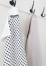 Load image into Gallery viewer, Sponge Cloth and Tea Towel Set Tiny X - Black and White
