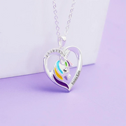 Christmas Gift Personalized Rainbow Unicorn Necklace-Fast Shipping Guaranteed