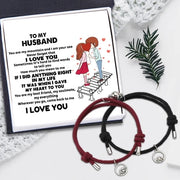 BUY 1 GET 1 -Magnet Couple Bracelets - To My Husband - Wherever You Go Come Back To Me