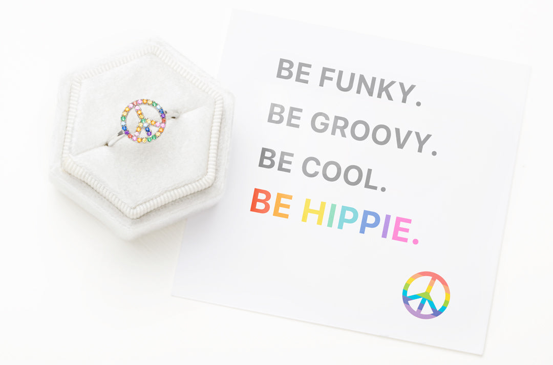 Peace Sign Ring-Funky Groovy Cool Hippie