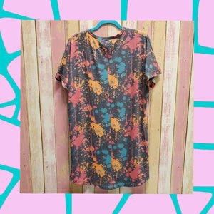 """Free Spirit"" Tee (by Crazy Train) Turquoise Tortoise"