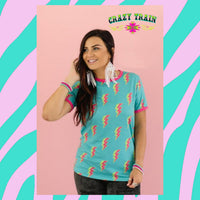 """Rock With You"" Tee (by Crazy Train) Turquoise Tortoise"