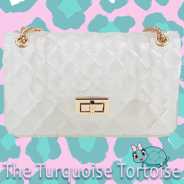 Jelly Crossbody Bag (Clear/See Through) Turquoise Tortoise