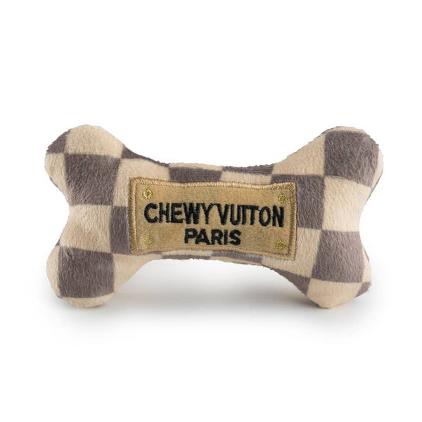 Checker Chewy Vuiton Bone Small Turquoise Tortoise