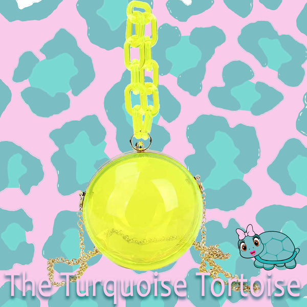 Sphere Bag (Transparent Yellow) Turquoise Tortoise