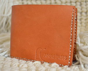 Open image in slideshow, Haiti made leather bifold wallet