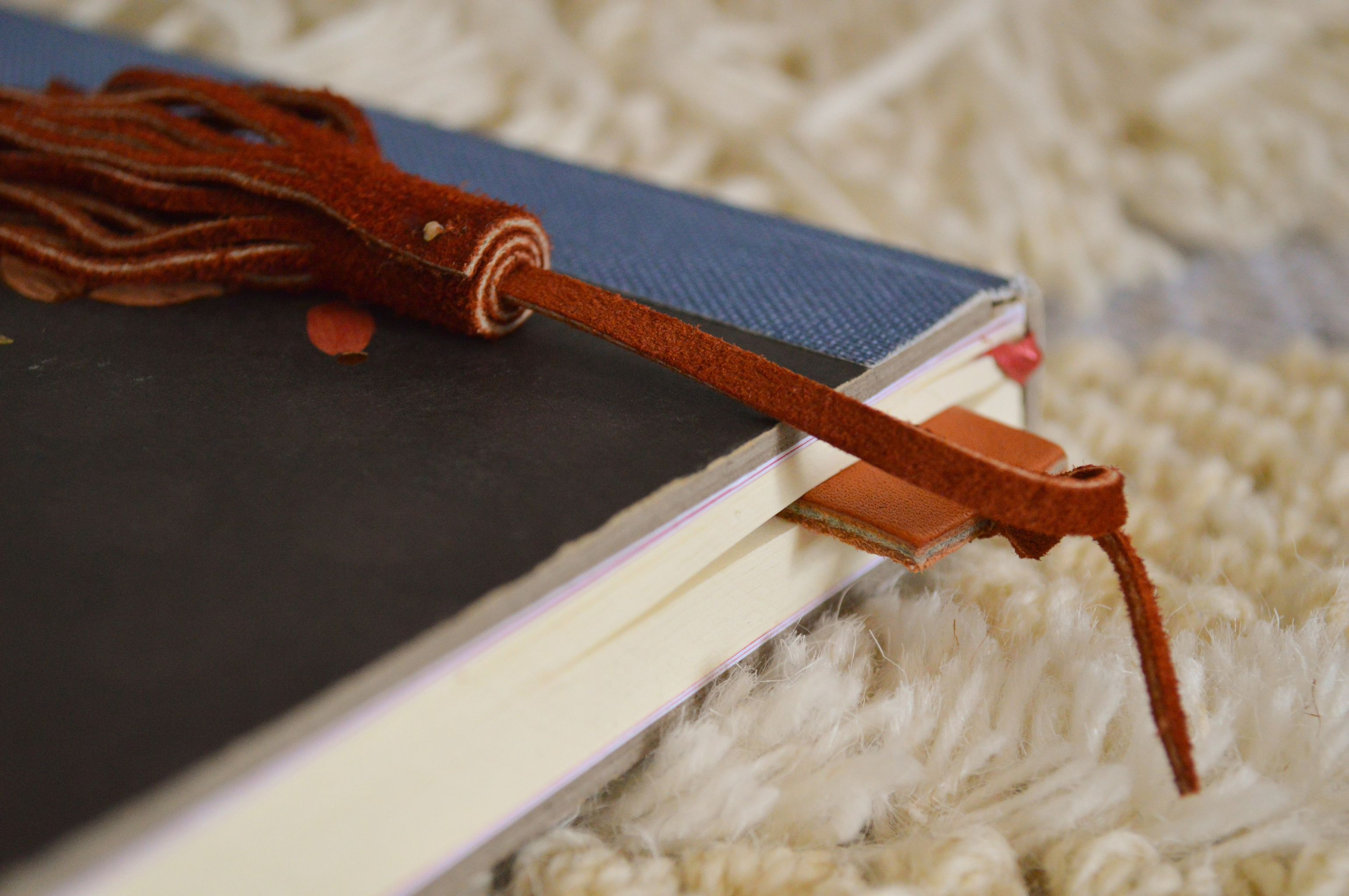 Haiti made leather bookmark