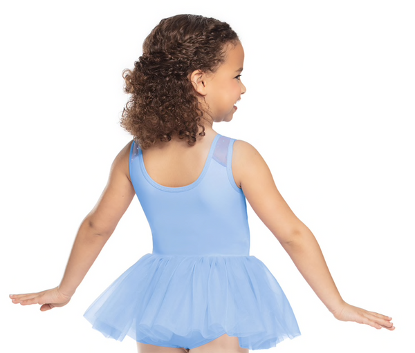 Dot Tank Tutu Dress -- Lavender