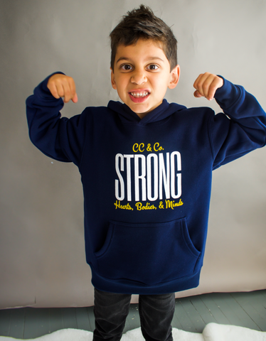Youth STRONG Navy Hoodie