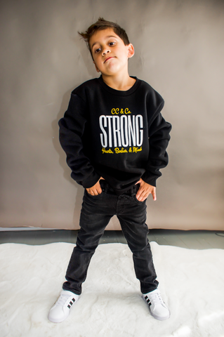 Youth STRONG Black Sweatshirt