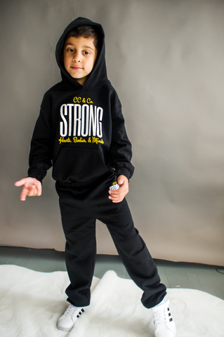 Youth STRONG hoodie -- Black