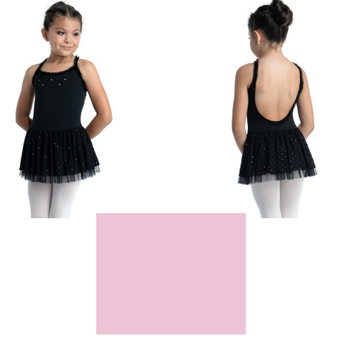 Cami Leotard w Clear Sequins - Pink