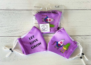 Let Love Grow - Face Mask