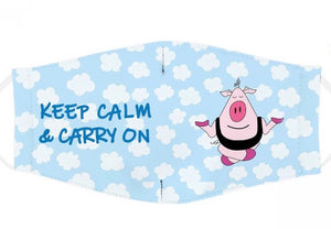 Keep calm & Carry On ( Large ) Mask