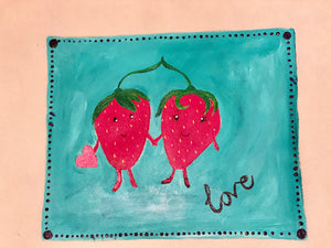 Strawberry Love Tote Bag Art Box