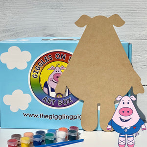 Giggles Wooden Art Box