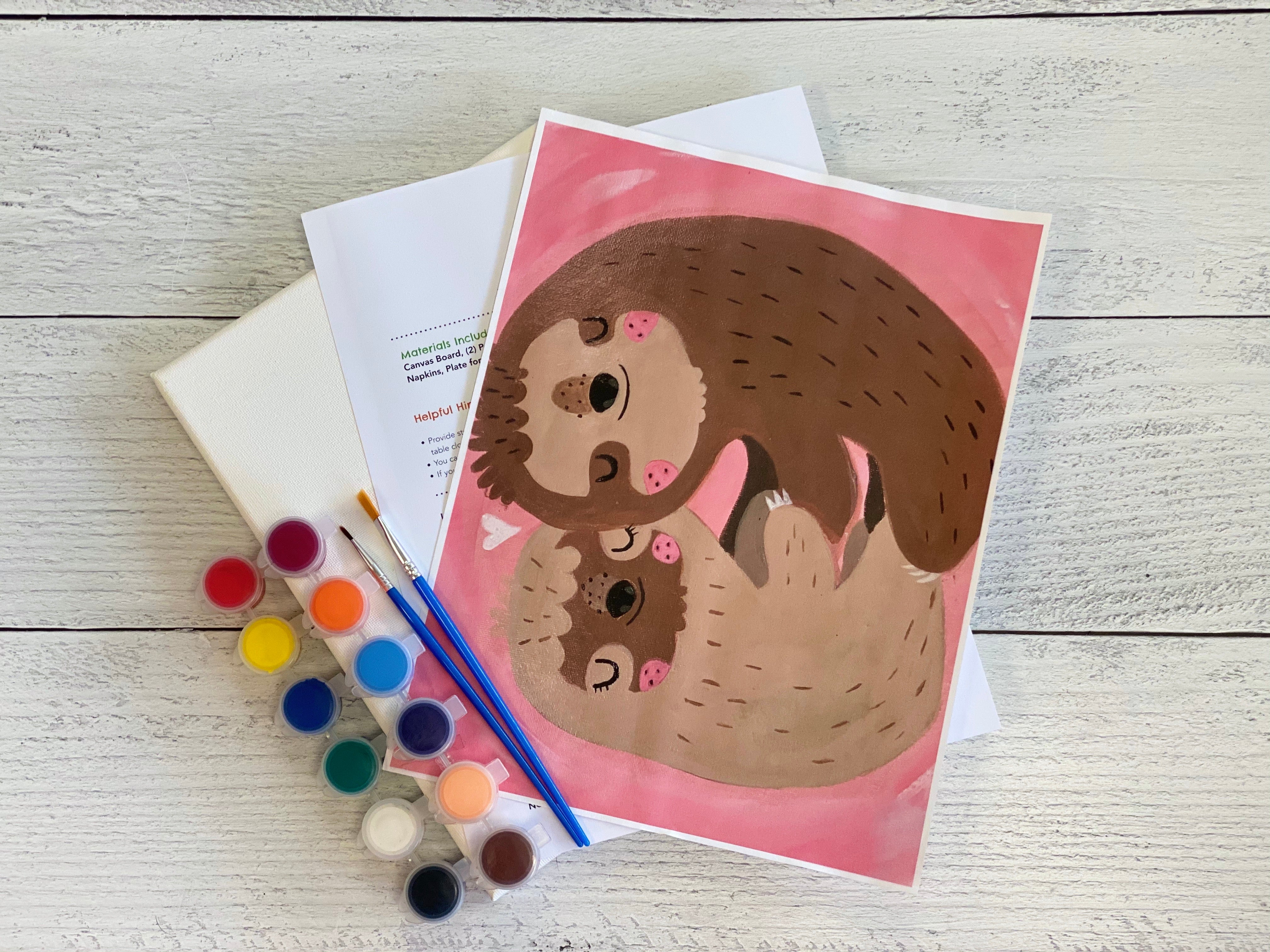 Hugging Sloths Acrylic Art Box