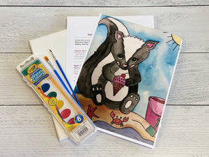 Silly Skunk Watercolor Art Box