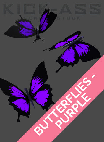 BUTTERFLIES - PURPLE