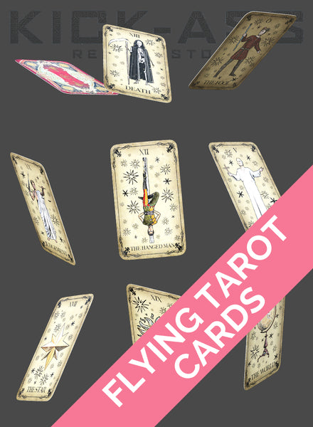 FLYING TAROT CARDS