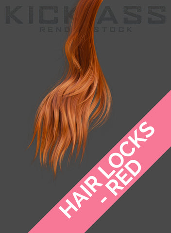 HAIR LOCKS - RED
