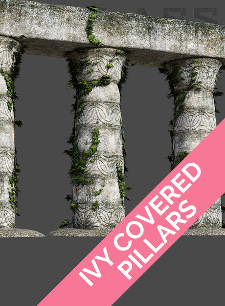 IVY COVERED PILLARS