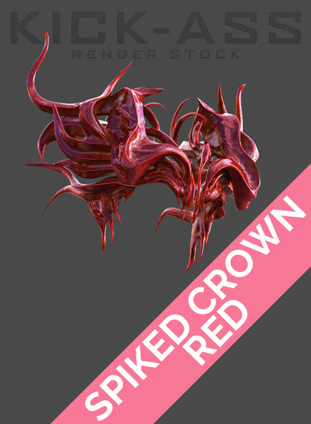 SPIKED CROWN -- RED