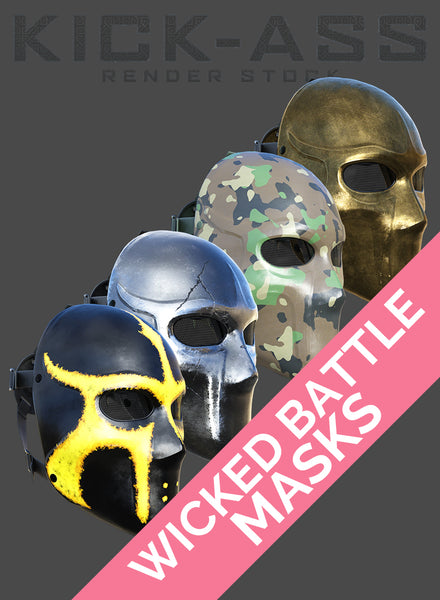 WICKED BATTLE MASKS