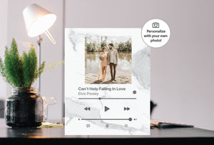 White Marble Custom Acrylic Album Cover - APPLE MUSIC - Pictical™