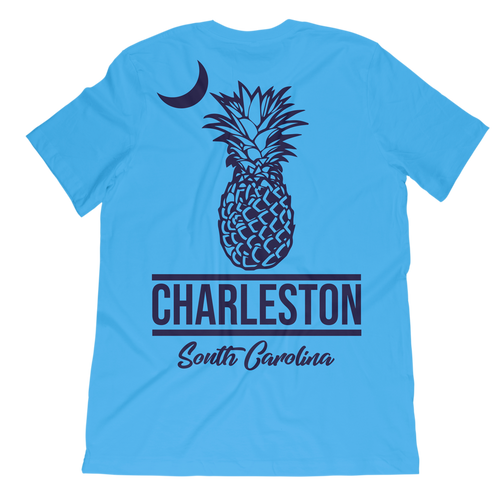 Pineapple and Moon Charleston T-Shirt - Palmetto Blended