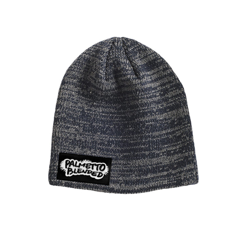 Marled Knit Beanie Hat - Grey/Charcoal - Palmetto Blended