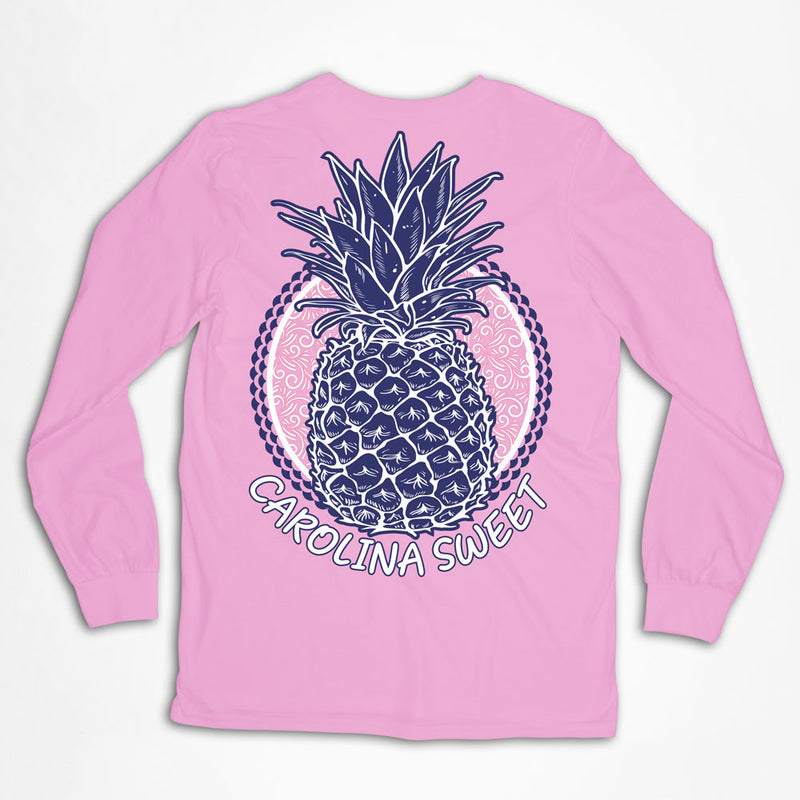 Pineapple Carolina Sweet Longsleeve T-Shirt - Palmetto Blended
