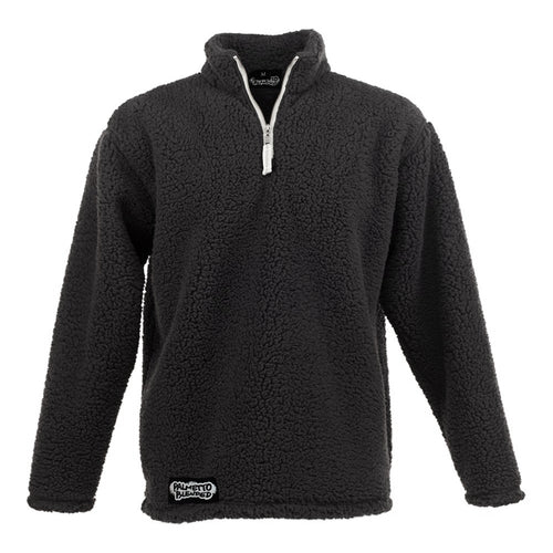 Mens Sherpa Pullover Black - Palmetto Blended