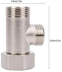 7/8 Brass Adapter for toilet bidet attachment -2