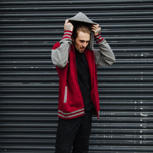 Load image into Gallery viewer, Pano Varsity Hoodie (Red/Grey)
