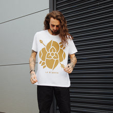 Load image into Gallery viewer, Flower T-Shirt (White w/Gold)