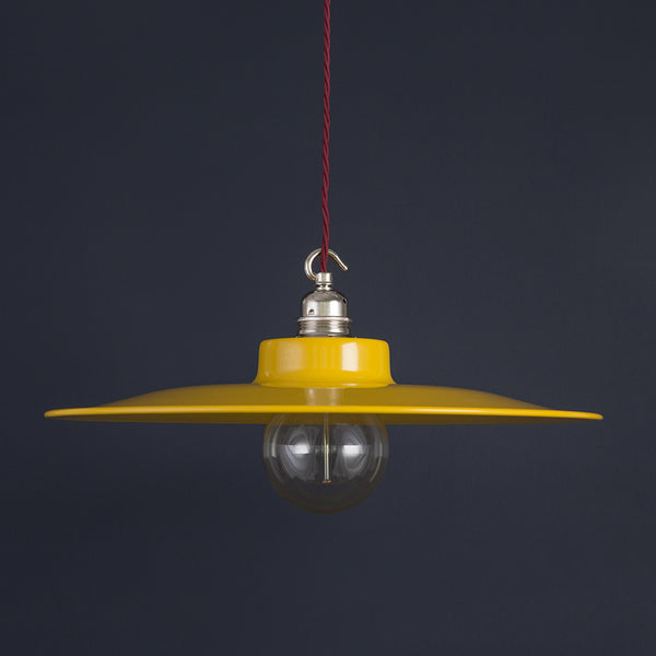 """Annie"" 400 Yellow Steel Vintage Pendant Light"