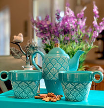 Load image into Gallery viewer, Pinky up Taylor: Bali Turquoise Tea For Two