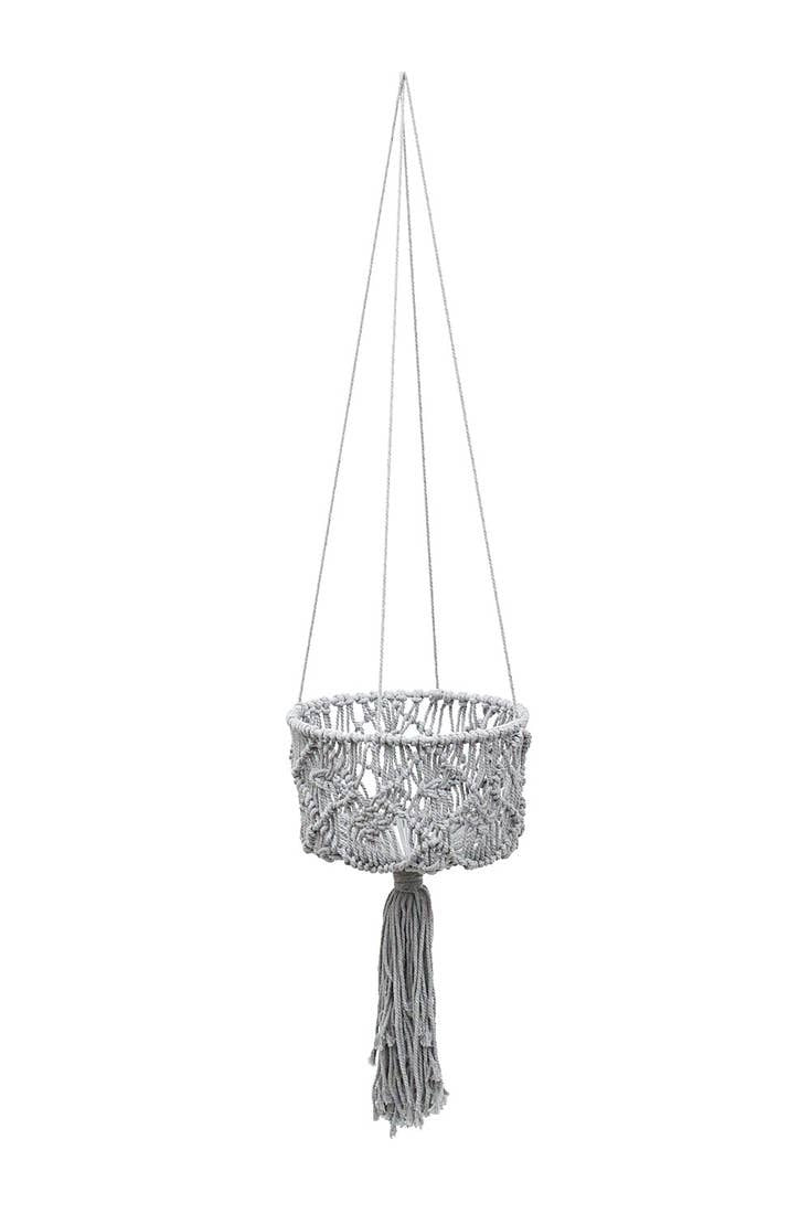Soul of the Party - Macrame Basket Plant Hanger 53