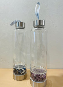 Glass water bottle with Crystal Infuser