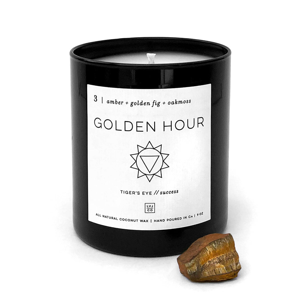 Golden Hour Crystal Candle